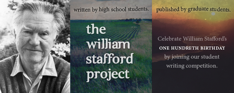 Celebrate William Stafford's 100th birthday by joining our student writing competition.